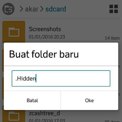 Cara Menyembunyikan File pada Android Tanpa Aplikasi Tambahan