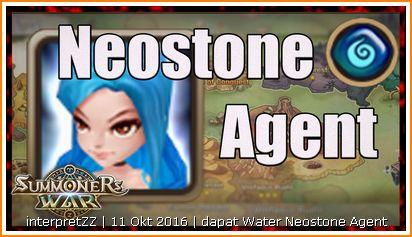 Gambar Neostone Agent berjenis air yang Tedi peroleh daripada Mystic Scroll