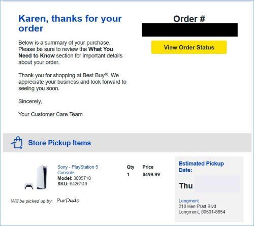 Finally got a PS5 | Graphic property of www.BakingInATornado.com