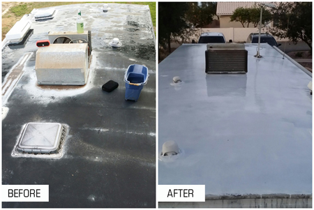 Be sure to seal up and unwanted leaks with Liquid Roof Coatings!