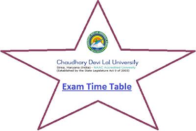 CDLU Exam Time Table 2020