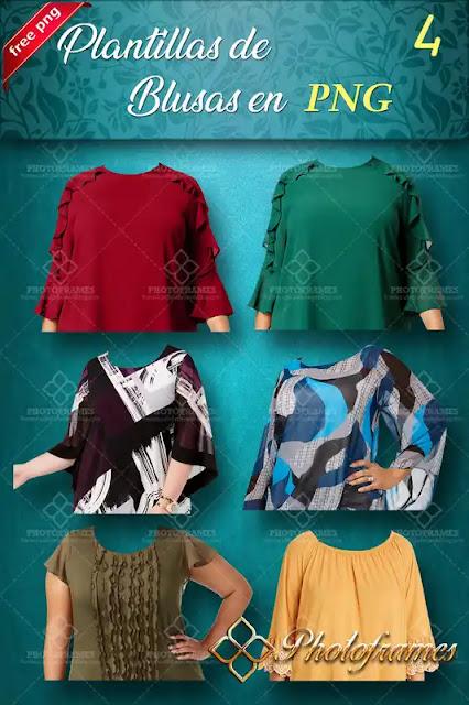 plantillas de blusas para fotomontajes