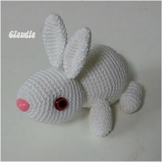 patron amigurumi conejo blanco lindas manualidades claudis