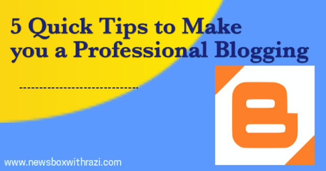 5 best Tips to Make you a Professional Blogging
