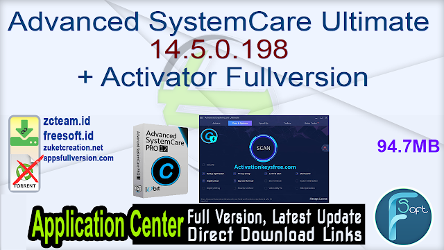 Advanced SystemCare Ultimate 14.5.0.198 + Activator Fullversion