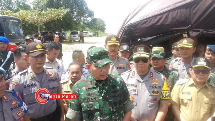 Pasca  Bentrok di Mesuji, Pangdam II Sriwijaya Akui Kerahkan Ratusan Personil TNI-Polri di Sumsel