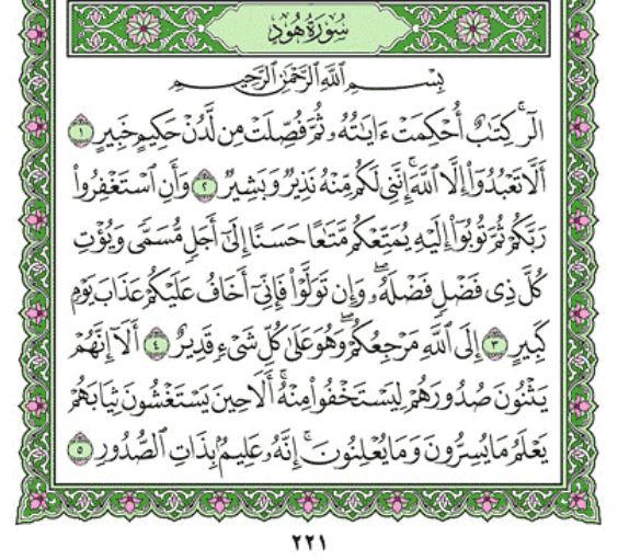 Surah Hud Rumi Al Quran Rumi Online