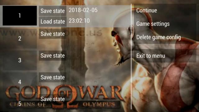 تحميل لعبة GoW Chains of Olympus لاجهزة psp ومحاكي ppsspp