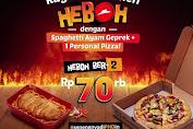 Promo PHD HEBOH Paket Berdua Dengan Spaghetti Ayam Geprek Cuma 35 Ribuan