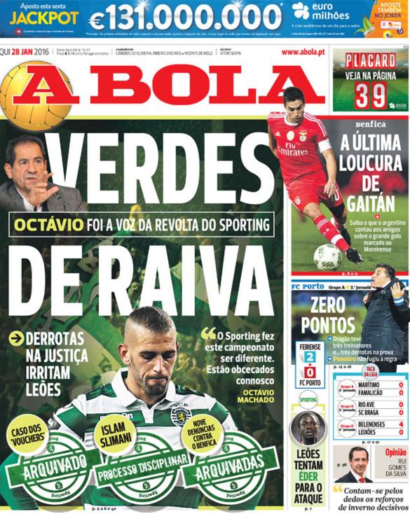 O Artista do Dia  Futebol Português  Capas que não fizeram história ... e2c9cef118f05