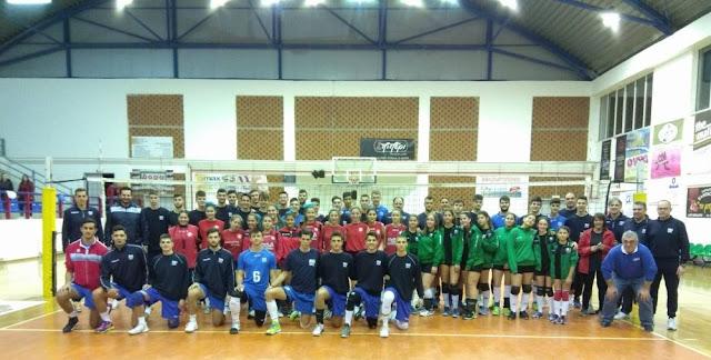 Η ομάδα του Α.Ο.Πλατανίτι Ναυπλίου στο φιλικό των Εθνικών ομάδων Εφήβων - Παίδων