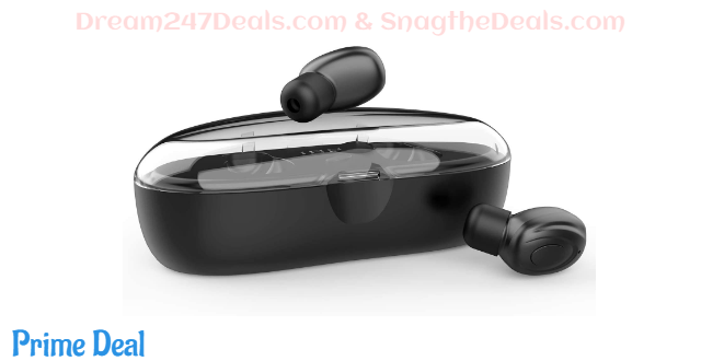 71% OFF  True Wireless Bluetooth Earbuds TWS Headphones [V5.0, Charging Case