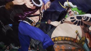 ワンピースアニメ 989話 | 傳ジロー 狂死郎 百獣海賊団 飛び六胞 ササキ SASAKI  | ONE PIECE Beasts Pirates Tobiroppo