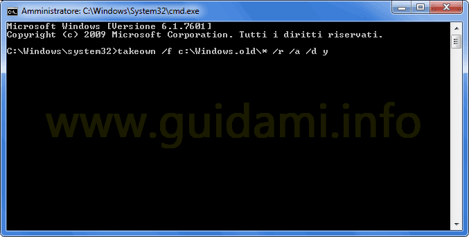 Prompt dei comandi Windows