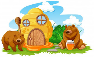 La casita de osos es bonita