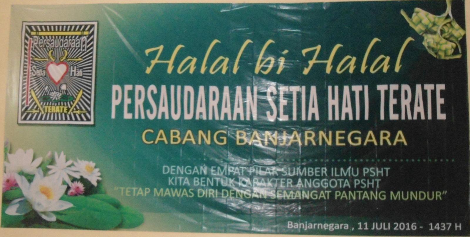 Halal Bi Halal Psht Banjarnegara 1437 H Psht Cabang Kabupaten