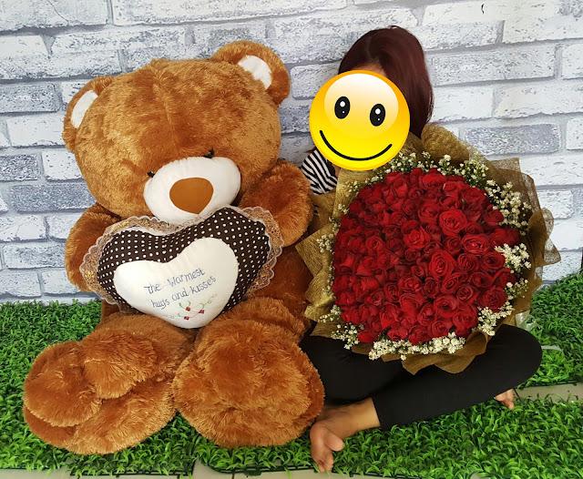 jual buket boneka surabaya, buket bunga boneka surabaya, jual bouquet boneka di surabaya