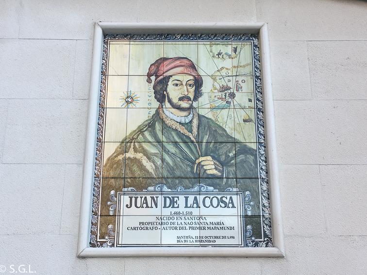 Juan de La Cosa famoso cartografo. Santoña.