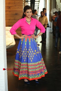 Actress Mannar Chopra in Pink Top and Blue Skirt at Rogue movie Interview  0122.JPG