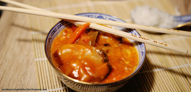 Karkówka po seczuańsku z ryżem jaśminowym
