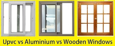 Difference Between UPVC, Aluminium and Wooden Windows