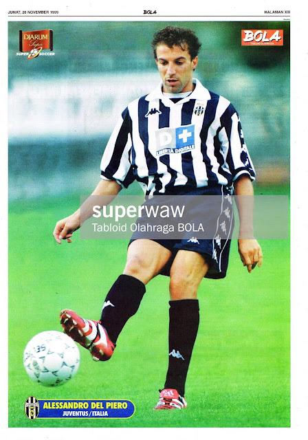 ALESSANDRO DEL PIERO JUVENTUS 1999