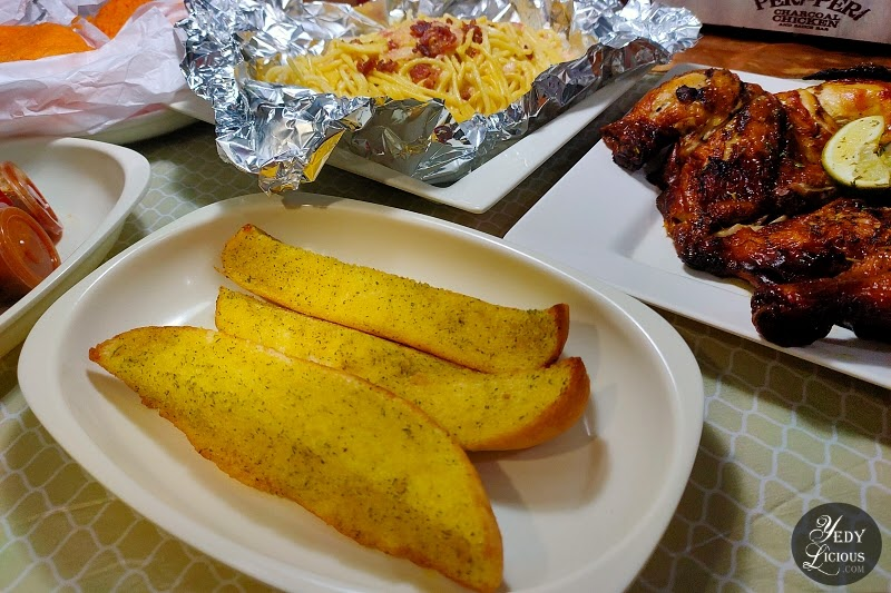 Buttered Garlic Bread at Peri-Peri Charcoal Chicken and Grill Philippines