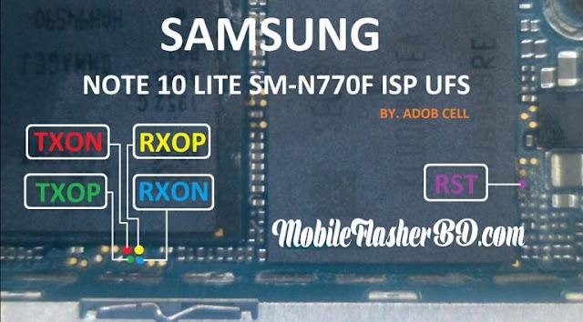 Samsung Galaxy Note10 Lite UFS ISP Pinout  Remove FRPPatternPassword