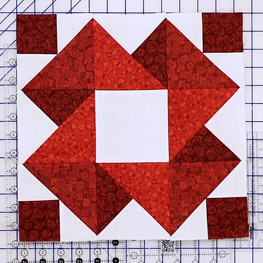 The Strawberry Smoothie Quilt Block Free Tutorial designed by Jennifer Bosworth of Shabby Fabrics