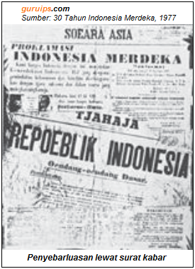 Penyebaran Berita Proklamasi Lewat Surat Kabar - Pers