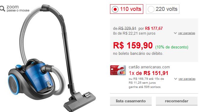 www.americanas.com.br/produto/120416810/aspirador-de-po-sem-saco-smart-1200w-electrolux?opn=YYNKZU&franq=AFL-03-171644
