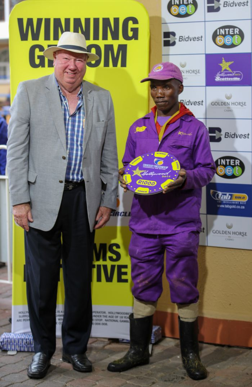 Grooms Initiative Winner - 15th December 2019 - Race 5 - Alphious Mntungwana - ISHNANA