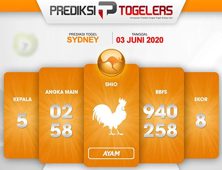 Prediksi Syair Sydney Rabu 03 Juni 2020 - Prediksi Togelers
