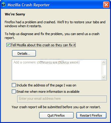"Disable Mozilla Crash Reporter aka ""Breakpad"" in Firefox"