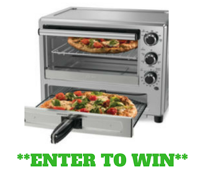 Oster Convection Oven with Dedicated Pizza Drawer.