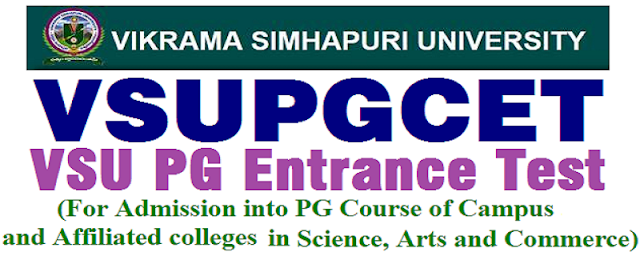 VSUPGCET 2018 hall tickets, Exam dates
