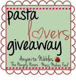 Pasta Lover's Giveaway log small
