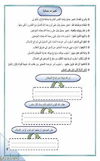 مذكرة اللغة العربية للصف الخامس الابتدائى الترم الثانى للاستاذة امنية وجدي