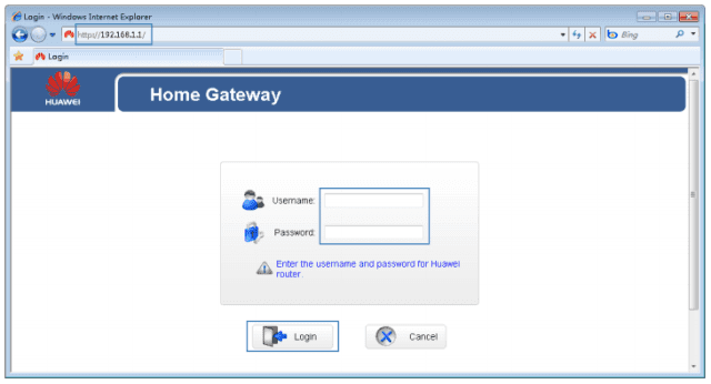 Browse for its default IP address 192.168.x.x