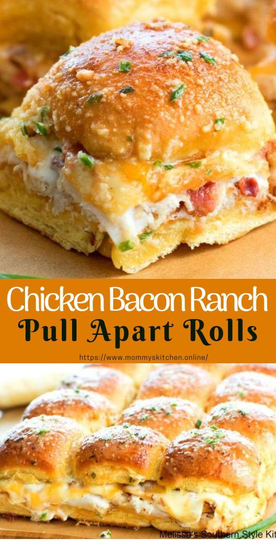 Chicken Bacon Ranch Pull Apart Rolls #pullApartRolls #easyrecipe