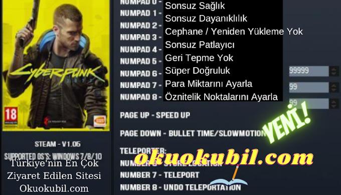 Cyberpunk 2077 v1.0.6  Trainer + 17 (LinGon) Hilesi Süper Özellikler 2021