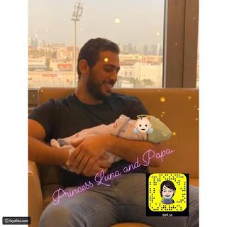الفاشينيستا الكويتية روان بن حسين تضع مولودتها الأولى