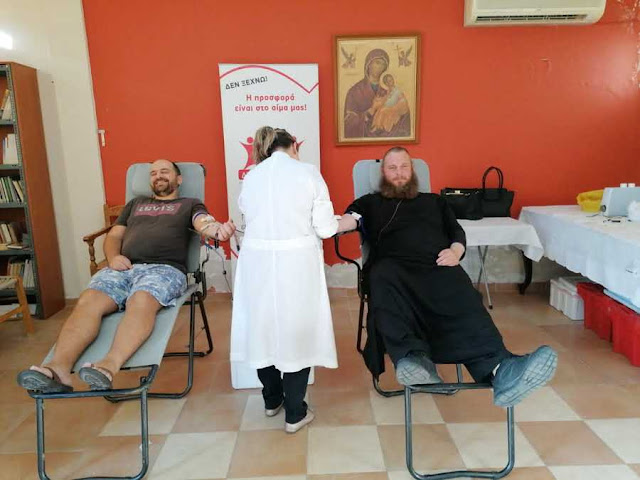 Στιγμές από την 119η εθελοντική αιμοδοσία στο πνευματικό Κέντρο Αγ. Νεκταρίου