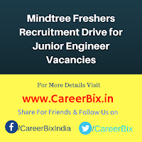 Mindtree Freshers Recruitment Drive for Junior Engineer Vacancies