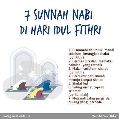 sunnah shalat idul fitri sesuai ajaran nabi