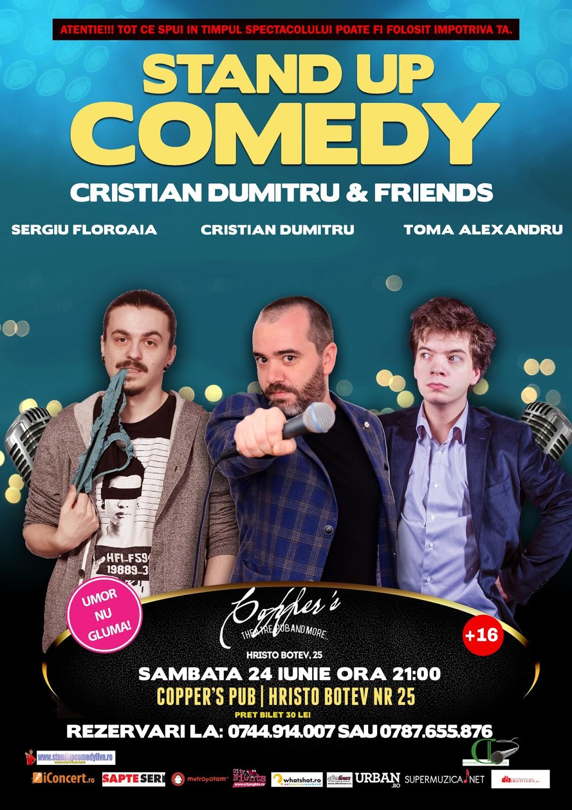 Stand-Up Comedy Bucuresti Sambata 24 Iunie