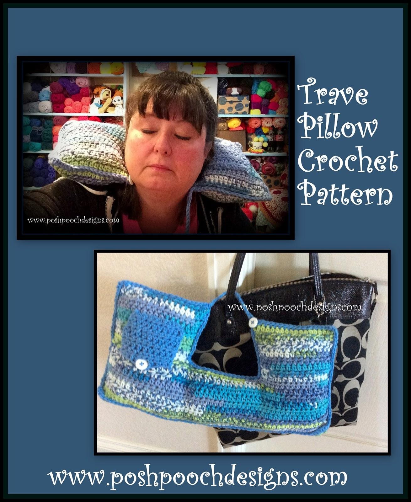 Posh Pooch Designs Dog Clothes: Travel Neck Pillow Crochet Pattern