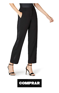 Pantalon Pelazzo de mujer con franja negra