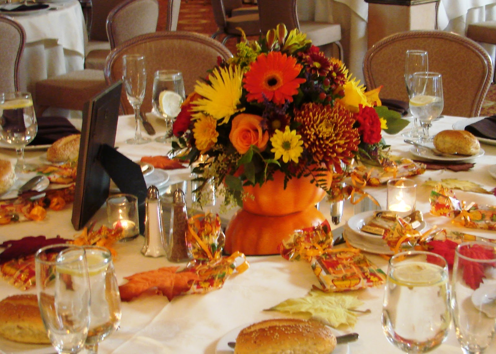 Autumn Themed Wedding Table Decorations
