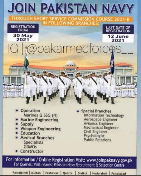 Latest Pak Navy Jobs June 2021 Join Pakistan Navy